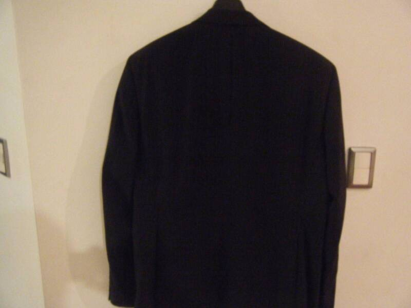 HUGO BOSS BLACK SUIT WITH WHITE STRIPES size 56 | Other Men's ...