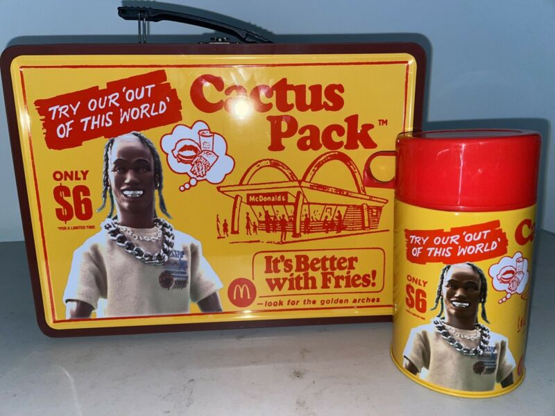 Travis Scott McDonalds CACTUS JACK PACK VINTAGE METAL LUNCH BOX SOLD OUT!