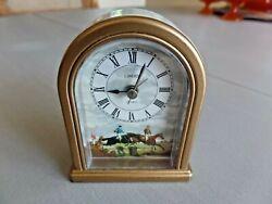 Vintage Linden 4 Clock Jumping Horses Equestrian Motif Alarm Quartz Metal