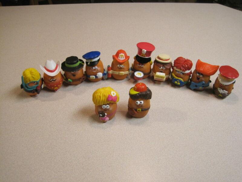 McDonalds 1988 Chicken McNugget Nugget Buddies Complete Set of 10 w/Both U3 Toys