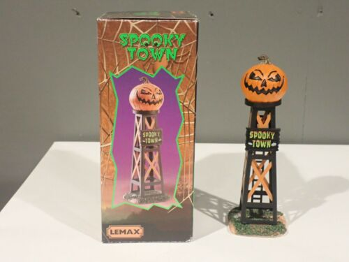 2018 LEMAX SPOOKY TOWN COLLECTION EVIL PUMPKIN WATER TOWER