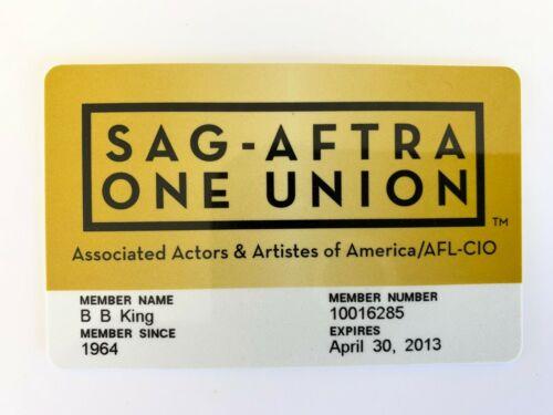 BB King OWNED SAG Screen Actors Guild Card #1 JULIENS Estate