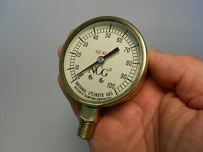 2 58 Polished Brass Gauge 0-100 Psi Steampunk Material