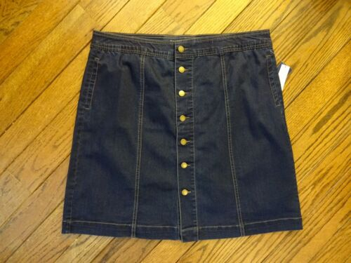 New! Charter Club Blue or Black Denim Tummy Slimming Skirt    $69.50