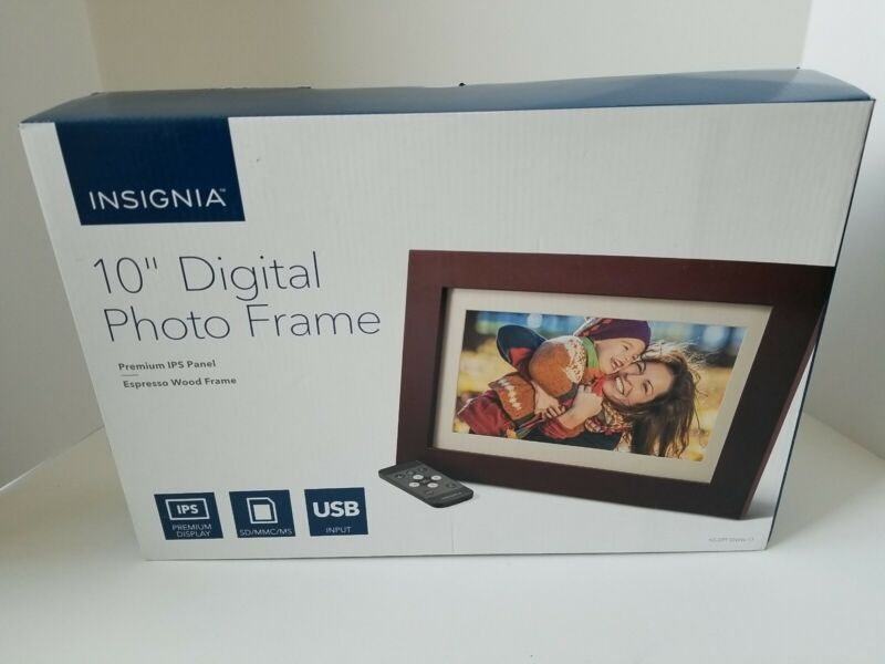 """Insignia - 10"""" Widescreen LCD IPS Digital Photo Picture Frame - NEW in Box"""
