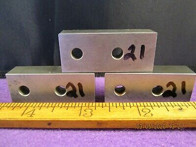 Precision Machinist Tools 3 Pc Unbranded Hardened Flat Bar Stock Tool Steel 21