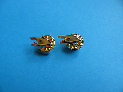 2, Martell Cognac Logo pin badges. VGC. Unused. Brandy.