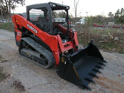 2018 Kubota Svl75-2 Track Skid Steer Loader With 4-in-1 Tooth Bucket - Ship 500