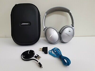 Bose QuietComfort 35 Series I Wireless Headphones Noise Cancelling - Silver