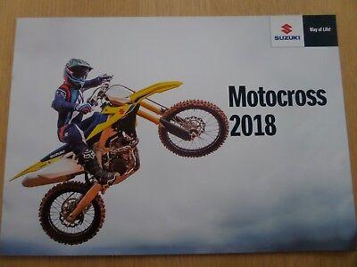 Suzuki Motocross Range Motorcycle Sales Brochure 2018 - RM-Z450/250