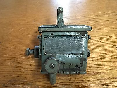 South Bend Heavy 10 Single Tumbler Quick Change Gear Box