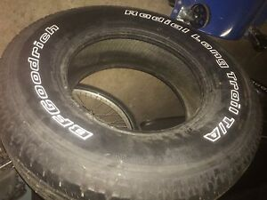 Two 245/75R16 size tires
