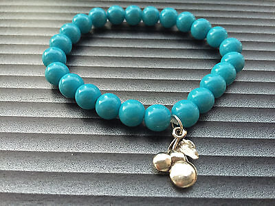 Damen Armband handgefertigt Glasperlen blau