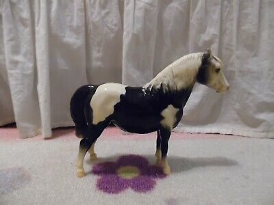 Breyer black and white paint pony/ vintage