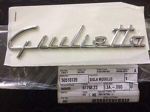 SCRITTA-POSTERIORE-GIULIETTA-SU-PORTELLONE-ALFA-ROMEO-ORIGINALE-50510139