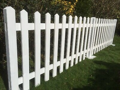 White Primed Wooden 'Free Standing' Picket Fencing Events!Exhibition!White!