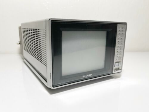 Sharp Color TV Portable Model 5H12 Vintage 1985