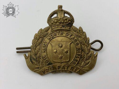 World War One New Zealand 10th North Otago Rifles Cap Badge Gaunt London Maker M