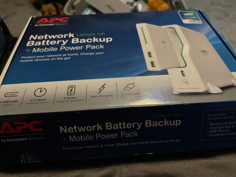 APC Network Battery Backup BGE50ML Lithium Ion UPS with Mobile Power Pack
