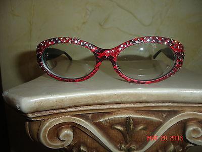 ESTATE VINTAGE CAVIAR SNAKE EYES RED SUNGLASSES 2340 (Snake Eyes Sunglasses)
