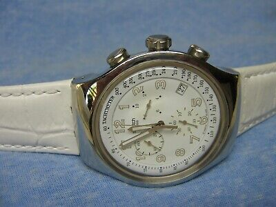 """Men's 2006 SWATCH """"Irony"""" Water Resistant Chronograph Watch w/ New Battery"""
