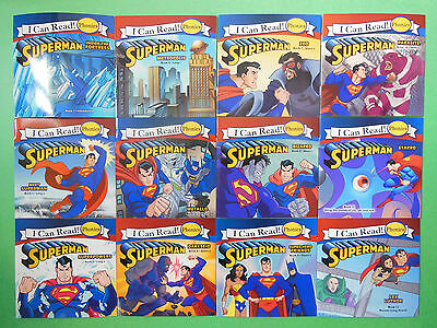 Superman Childrens Books Phonics I Can Read Beginning Early Readers Lot 12