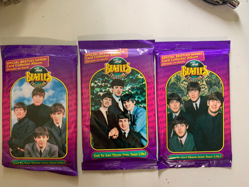 1993 Beatles Collection Trading Cards 3 sealed Packs The River Group