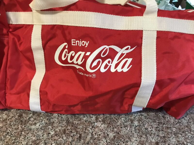 Vintage Coca Cola Duffle Bag Coke Shoulder Tote Gym Travel Bag
