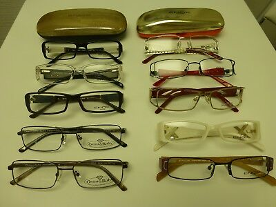 Brillenfassungen SET 10 Stück Italien Designer ENOX Damen Herren ungetragen Neu