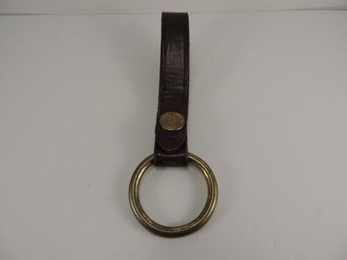 Vintage Bucheimer Brown Leather Baton Holder C5A Brass