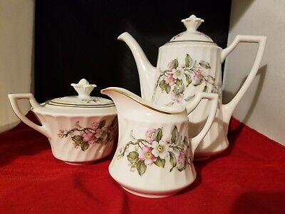 Syracuse China Apple Blossom Coffee Pot 7.5
