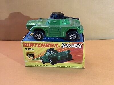 Matchbox Superfast No. 73 Weasel Metallic Green Body With Box