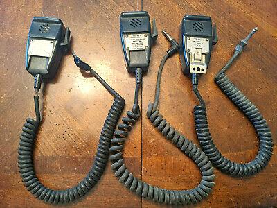 3 Aircraft Microphones, (2 Telex Tel-66T and 1 Cessna C596502-0202)