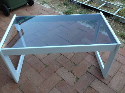 Coffee Table Wooden with Glass Top (Gone pending pick up) North Brighton Holdfast Bay Preview