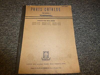 Letourneau Model C Tournapull Scraper Parts Catalog Manual Book Pc264