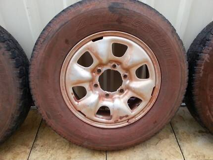 Toyota Hilux 6 stud pattern rims and tyres Currambine Joondalup Area Preview