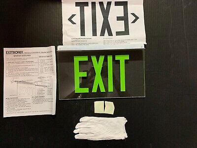 Exitronix 900 Series Glass Exit Sign - Ex-902ulbgcxxba