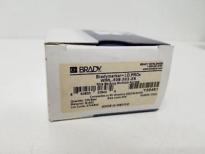 Brady Wml-905-502-2s Wire Marking Multiple Across Labels For Bradymarker Id Pro
