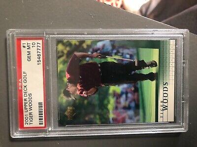 2001 Upper Deck Golf Tiger Woods rookie gem 10