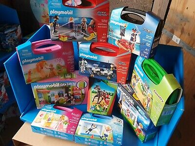 Playmobil Carry Cases And Handy pack X 10 New Clearance Bargain SRP £120ish set2