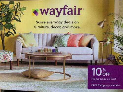 Wayfair 10% OFF FIRST ORDER Coupon Discount Code       Exp 12/21/2021