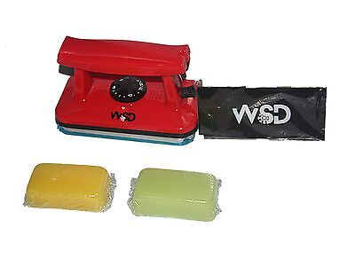 (Ski Snowboard Wax Iron tuning iron + yellow and green wax + WSD wax scraper 5