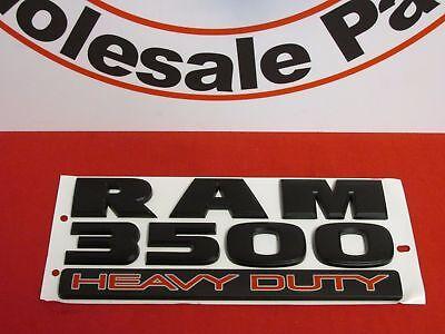 DODGE Ram Matte Black 3500 Heavy Duty Door Emblem NEW OEM MOPAR