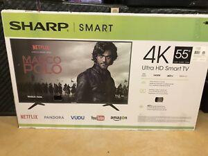 Sharp 55 in 4K smart tv
