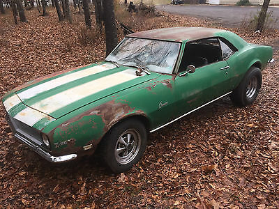 1968 camaro z28 real z 28 rare original paint rallye green barn find race car 68 used. Black Bedroom Furniture Sets. Home Design Ideas