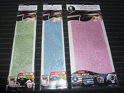 3x Set Glitzer Strasssteine selbstklebend Sonderposten grün blau pink