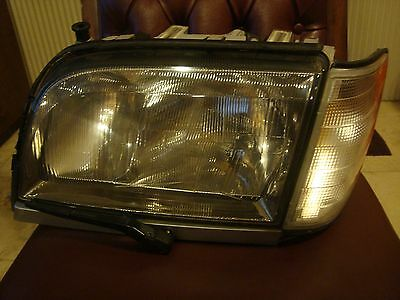 94-99 Mercedes Benz Front Left Driver Side Headlight w/ Bulbs Wiper S500   ##8T8