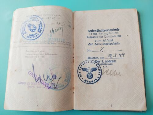NDH PASSPORT CROATIA. ww2 COMPLETE with picture