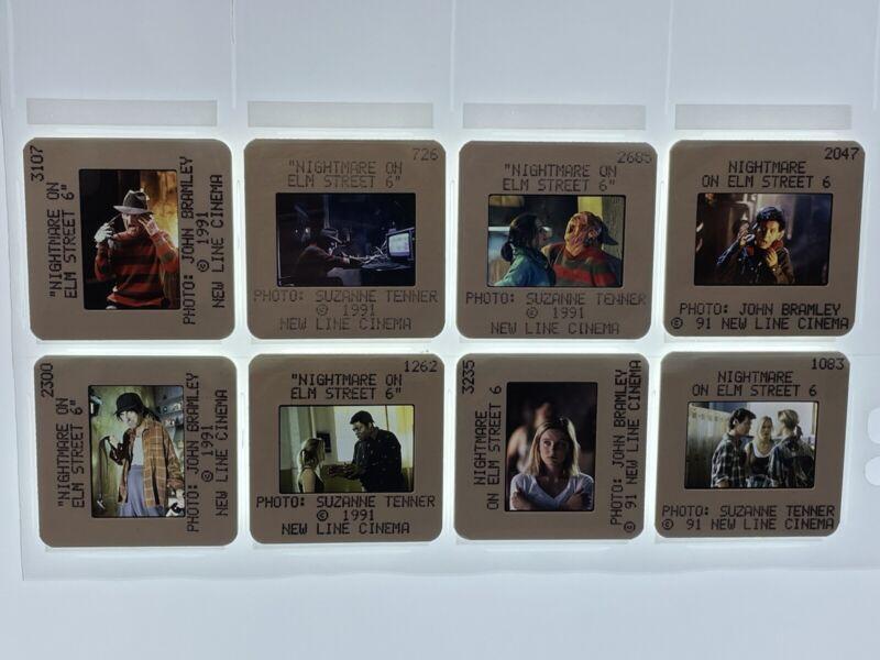 A Nightmare on Elm Street 6 Movie 35mm Photo Slides Freddy Krueger Lot of 8