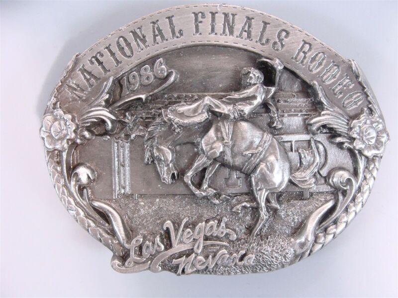 Vintage 1986 National Finals Rodeo Numbered Limited Edition Belt Buckle